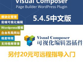 WPBakery Visual Composer中文版 可视化编辑器5.4.5
