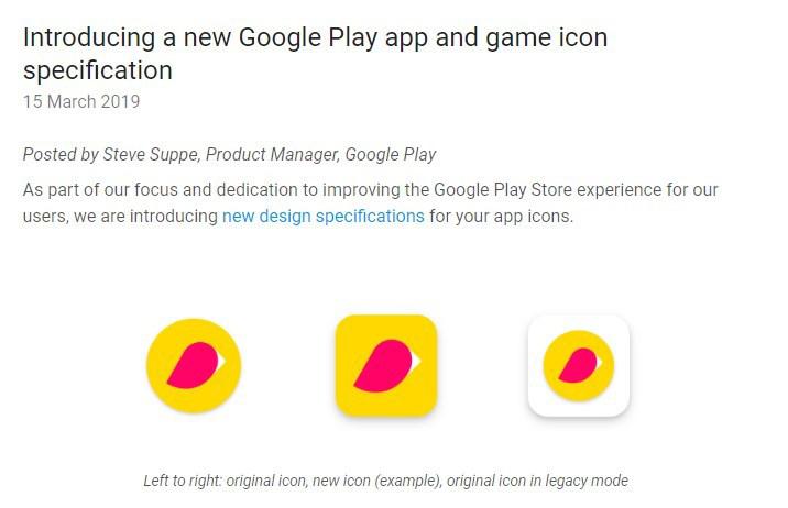谷歌规范Google Play商店应用图标:要统一,不允许自由形状