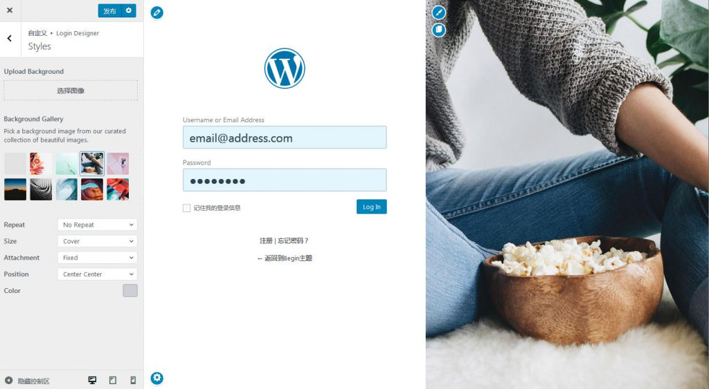 WordPress登录页面美化插件:Login Designer